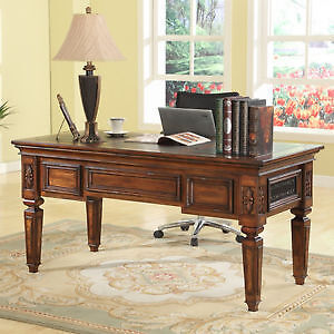 Leonardo Solid Wood Writing Desk with Matching BookCase & Ladder