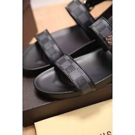 BROWN LEATHER STRAP SANDALS - WOMENS & MENS FREE POSTAGE