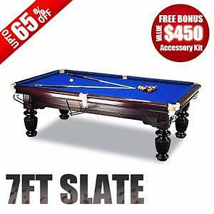 7/8/9/10/12FT LUXURY TIMBER SLATE SNOOKER/BILLIARD TABLE ON SALE Northmead Parramatta Area Preview