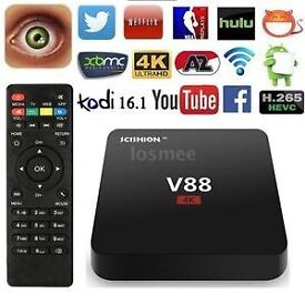 Android TV Boxes V88 4k **kodi krypton * best deal out there wifi or ethernet