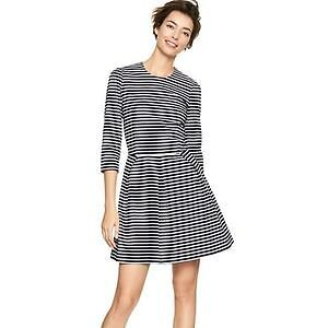 Striped Gap fit and flare dress size XS