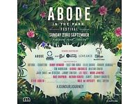 2x ABODE in the Park Tickets - Sat 23rd Sept