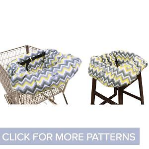 Double shopping cart/high chair cover