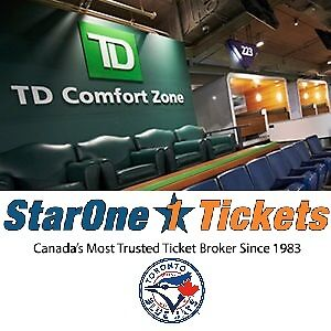 TD Comfort Clubhouse Seats: Toronto Blue Jays 2017 Tickets!!!!!!