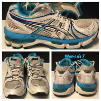 WOMENS ASICS GEL KAYANO 10 RUNNING SHOES SIZE 7