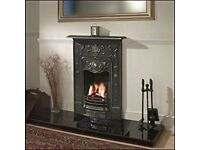 Brand new cast iron fire place and slate hearth