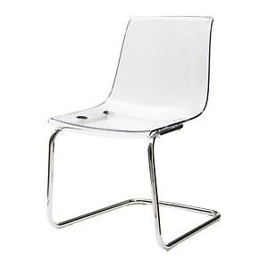 2 two chaise chair Tobias clear transparente Ikea bureau