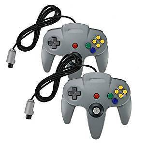 2 official Nintendo n64 controllers.