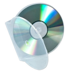 Clear Clamshell C-Shell (holds 1 Disc), 100/pack