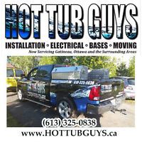 Hottubguys.ca, Hot Tub Installers, electrical, relocation, bases
