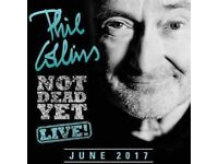 Phil Collins Ticket \Package with pre concert warm up, welcome drink and canapes, VIP lanyard etc
