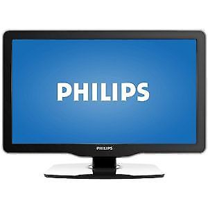 """PHILLIPS 22"""" L.E.D / MONITOR WITH PC INPUT 2-HDMI   720P/1080i"""