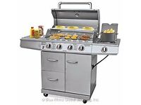 Uniflame 4 Burner & Side Gas Barbecue