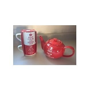 Keep Calm And Drink Tea Tea Set - The Old Pottery Company