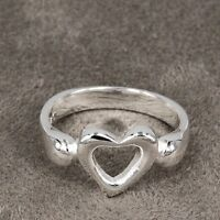 SWEET BRAND NEW OPEN HEART STERLING SILVER RING  SIZE 8