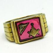 Freimaurer Ring Gold