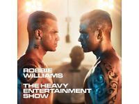 Two Robbie Williams tickets at Ricoh Arena, Coventry. Seated tickets in West Stand