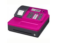Pink casio cash register brand new immaculate condition & till rolls