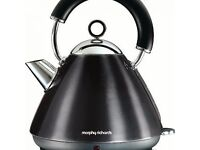 Morphy Richards 102002 Accents Pyramid Kettle, 3000 W, 1.5 L, Stainless Steel/Grey/Black