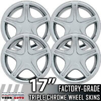 "99-04 Ford Mustang 17"" Chrome Wheel Skin Covers for OE 17"" Rims"