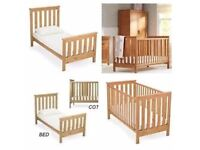 Mothercare Jamestown Pine Cot Bed Used
