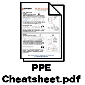 -- PPE Cheat Sheet for PEO Law & Ethics Exam (free)