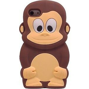 Monkey, Silicone Case Cover Skin for iPhone 5