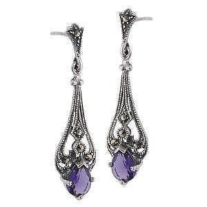 Amethyst Earrings Gold