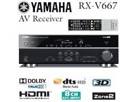 Yamaha-RX-V667 7.2 Channel 90 Watt Receiver (Award winner at What Hifi)