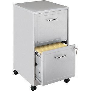 2 Drawer Metal File Cabinet
