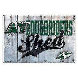 Saskatchewan Roughriders Shed Sign (New) Calgary Alberta Preview