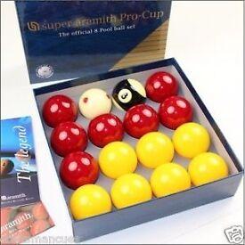 Super aramith pro cup pool balls