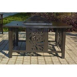 Table de 40 pouces avec foyer extérieur au bois