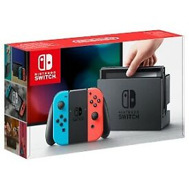 **Brand New Sealed Nintendo Switch Neon Blue/Red**