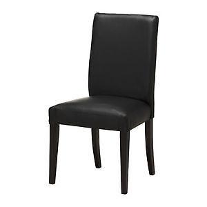 2 chaises véritable cuir henriksdal ikea vaut 149+tx