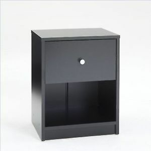 Black night stand