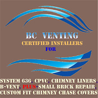 BCVenting, Chimney Liners, System 636, Brick and Chimney Repair