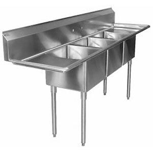 STAINLESS STEEL SINKS AND SHELVES