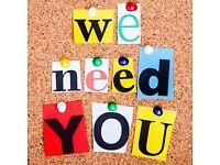 Weekend Volunteers Needed