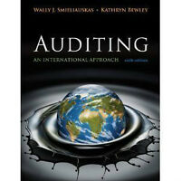 Auditing An International Approach 6th Edition