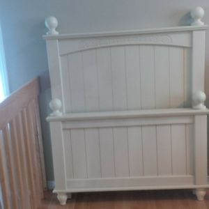 Solid Pine - white wash finish (Head/Foot board with dresser)