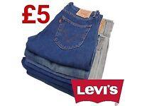 10 pairs of LEVI'S Jeans Authentic Mixed Sizes Bundle