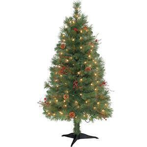 7 ft pre lit christmas trees