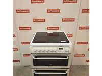 60cm double oven ceramic top hotpoint electric cooker #7121
