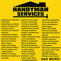 Handyman for hire! Great rates! Any type of work! (416) 803-3368