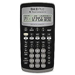 CFA calculator- Texas Instruments BA II Plus Financial Calc