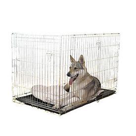 Double Door Dog Training Crate: size medium
