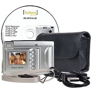 Affordable & Brand New 2.0MP 4x Digital Zoom Camera (Silver)