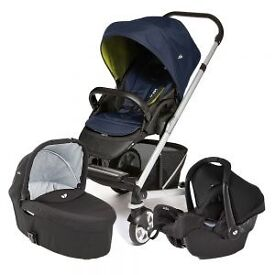Joie Chrome travel system Denim Zest
