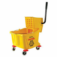 Mop Pail with Wringer 36 L Yellow